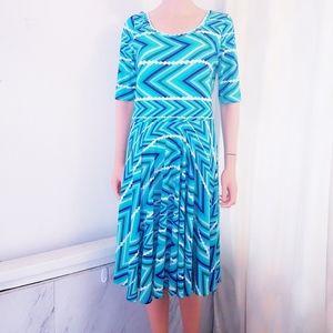 #1161 LuLaRoe Nicole Short Sleeve Dresses xl Blue